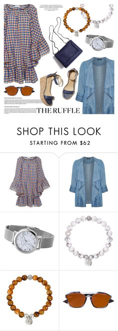"""""""All Ruffled Up"""" by christianpaul ❤ liked on Polyvore featuring Caroline Constas, Evans, Barneys New York, 3.1 Phillip Lim, Christian Dior, ruffles, contestentry, christianpaul, christianpaulwatches and plus size clothing"""