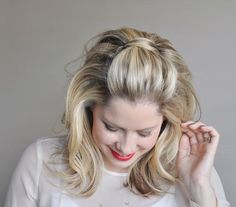 Shades of Adele: Gently tumbling curls and a teased crown evoke the singer's retro style.