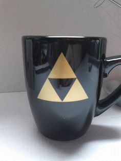 Zelda triforce coffee mug by DesignsByDoty on Etsy, $9.00
