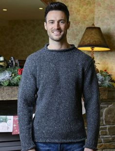29b71ded45f7df Roll Neck Irish Fisherman Sweater The Roll neck is a rugged sweater which  gives any outfit