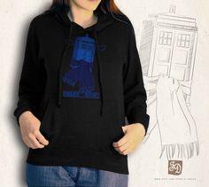 SuperWhoLock black hoodie / Supernatural, Doctor Who, Sherlock / blouse. $42.00, via Etsy.
