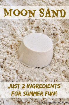 """In my ongoing attempts to keep the girls busy this summer, we came across a tutorial showing how to make what we have dubbed """"Moon Sand"""" from just 2 simple …"""