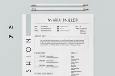 Modern Resume Template  Cv Template By Advantageresumes On