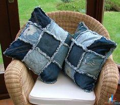 Подушки иподушечки из джинсов