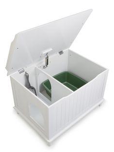 Designer Catbox Cat Litter Box Enclosure at PetSmart. Shop all cat litter boxes online Liter Box, Cat Liter, Litter Box Enclosure, Enclosed Litter Box, White Chests, Pet Furniture, Modern Furniture, Furniture Design, Furniture Ideas