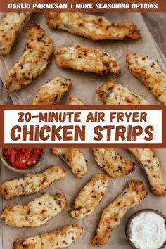Air Fryer Recipes Dessert, Air Fryer Oven Recipes, Air Fry Recipes, Cooking Recipes, Air Fryer Recipes Chicken Tenders, Chicken Tender Recipes, Macro Meals, Air Frying, Crohns
