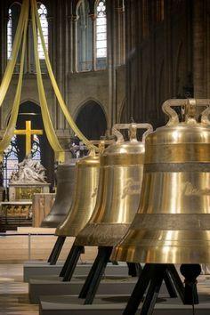 Beautiful new church bells in Notre Dame. Photo credit: Cathédrale Notre-Dame de Paris.