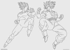 _Goku_and_Vegeta___Lineart__by_2D75.jpg (1063×751)