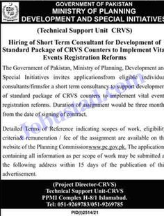 Jobs Description Jobs in Ministry of Planning Development and Special Initiatives 2021 has been announced through the advertisement and applications from the suitable persons are invited on the prescribed application form. In these Latest Jobs in Government of Pakistan the eligible Male/Female candidates from across the country can apply through the procedure defined by the ... Read more The post Jobs in Ministry of Planning Development and Special Initiatives 2021 appeared first on JobUstad.