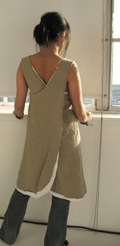 alamodeus: Japanese aprons ...love the white trim