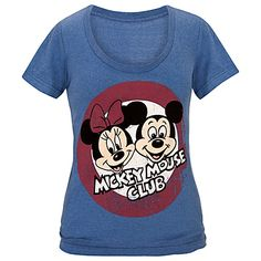 The Mickey Mouse Club Minnie and Mickey Mouse Tee for Women, Small