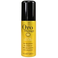 Sun Protection Oil 24k Oro Puro Therapy ® 115ml Olio Solare Micro-active Gold Blonde Highlights, Hair Care, Therapy, Wellness, Wine, Bottle, Hair Styles, Ebay, Blonde Chunks