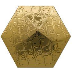 Heksagon Piramidal - płytki ścienne Dec. Piramidal 2 Oro 17x15
