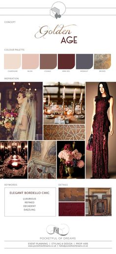 Bridal Inspiration Boards #78 ~ Golden Age of Glamour Wedding Ideas   Love My Dress® UK Wedding Blog