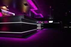 Lighting bar  Bar lumineux  With White NANOLIGHT luminous strips  www.nanolight.fr