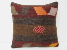 modern throw pillow 18x18 pillow kilim by DECOLICKILIMPILLOWS