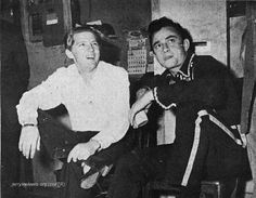 January, 1958, Jerry Lee Lewis & Johnny Cash in Indianapolis.
