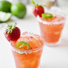 The thing is, you kind of definitely need this Strawberry Jalapeño Margarita. At least that's what I keep telling myself... Link to recipe in my bio. Salud!