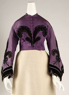 1863 silk dress bodice detail