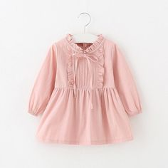 Pricess Sweet Dress with Bowknot Year) 3 Colors Baby Girl Party Dresses, Little Girl Dresses, Baby Dress, Girls Dresses, Dress Girl, Frocks For Girls, Kids Frocks, Toddler Girl Outfits, Kids Outfits