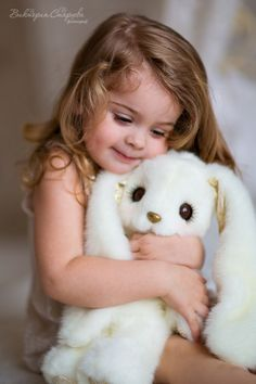 Charming Child and her bunny
