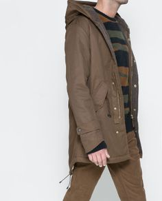 PARKA WITH KNITTED LINING- ZARA