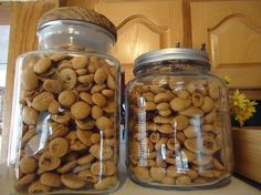One batch will go a long way – filling several jars for gifts!  If you've never had peppernuts before, I can only describe them as spicy, sweet, munchy, crunchy bites of Christmas.