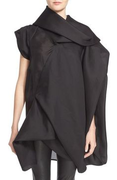 Draped Tunic - soft sculptural fashion; contemporary fashion // Rick Owens