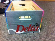 Craft Idea: A Tri Delta spin on Diet Coke!