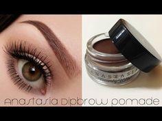 Eyebrows with Anastasia Dip Brow Pomade (with subs) - Linda Hallberg Makeup Tutorials - YouTube