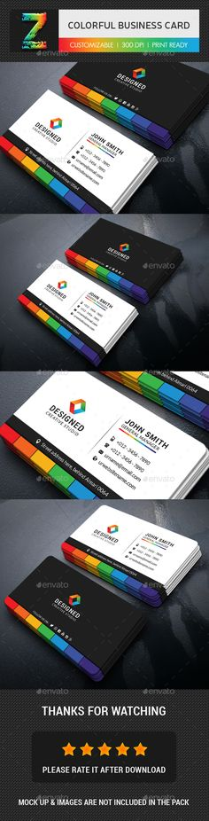 Colorful Business Card - Business Cards Print Templates Download here : https://graphicriver.net/item/business-card-bundle/19107849?s_rank=183&ref=Al-fatih