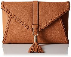 Milly Astor Whipsch Foldover Clutch Caramel One Size You Can Get Additional Details