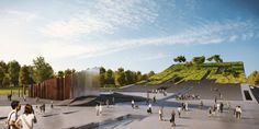 Napur Architect Designs a Bowed Building for the Ethnography Museum in Budapest,Courtesy of Napur Architect