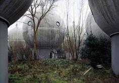 Dutch experimental settlement Bolwoningen in Den Bosch