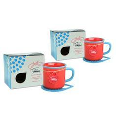 Topchoice Stonenamel Mug with Felt Coaster Set Color: Red Sea