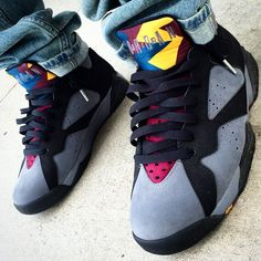 "Air Jordan 7 ""Bordeaux"" these again Sneakers Mode, Sneakers Fashion, Shoes Sneakers, Cheap Jordan Shoes, Air Jordan Shoes, Cute Shoes, Me Too Shoes, Zapatillas Nike Jordan, Basket Sneakers"