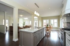 Open Concept Kitchen, Breakfast Area and Great Room ... fantastic area to enjoy for all occasions ... warm & inviting.