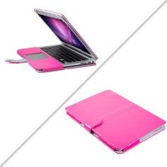 GMYLE® Premium Quality Hot Pink PU Leather with Microfiber Clip on Sleeve Filp Cover Case for MacBook Air 13 13.3: Amazon.ca: Electronics
