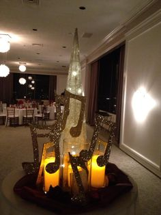 Music Centerpieces by one of my TAs (Ms. DeHate)