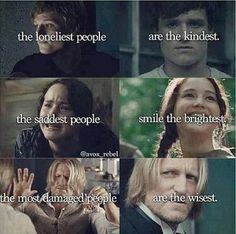 Hunger games :P even though effie always has to try to tell katniss to smile XD kinda lol