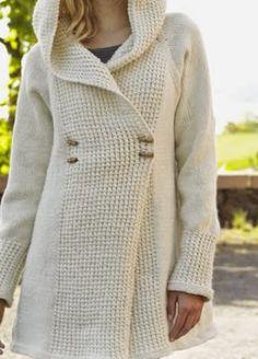 chaqueton largo tejido a palillo como tejerme un chaquetón a palillos OjoconelArte.cl |