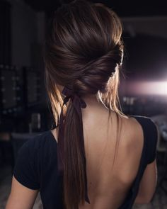 Chocolate #ponytail #updo#tonyastylist#hairdo#upstyle#braids#прическа#хвост#вечернийобраз#модель#model
