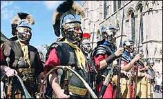 Roman soldiers  Walking around York, it would be easy to miss the city's Roman heritage.