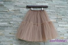 Fusta realizata din trei straturi de tulle fin, cu volane, betelia pe elastic, jupa din satin Satin, Skirts, Handmade, Fashion, Moda, Hand Made, Fashion Styles, Elastic Satin, Skirt