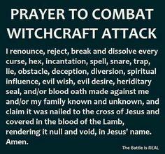 Prayer to combat witchcraft attack. Prayer Scriptures, Bible Prayers, Catholic Prayers, Faith Prayer, God Prayer, Prayer Quotes, Catholic Healing Prayer, Salvation Prayer, Psalms Quotes
