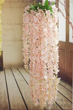 Kind note: The silk Wisteria do not come with leaves. Size: 60cm/90cm/120cm Material: Silk, Plastic, Cloth, Fabric, Synthetic Artificial Ivy Vine, looks like real plants! Ideal for weddings, festivals, parties ,home decorations, gardens, fencing, floral,tributes, sheds and many more. if you