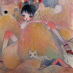 by Aya Takano Aya Takano, Superflat, Japanese Artists, Pretty Art, Illustrations Posters, Illustrators, Cool Art, Contemporary Art, Illustration Art