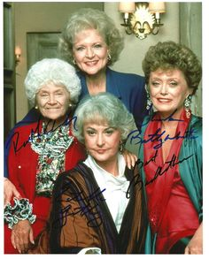 Cool Golden Girls Autographed Poster check out WWW.ALLAUTOGRAPH.COM