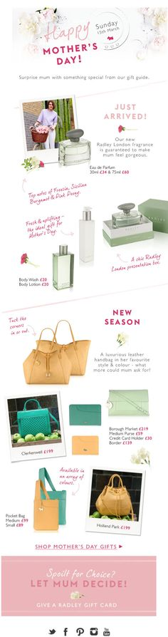 RADLEY LONDON FASHION NEWSLETTER, MOTHER´S DAY
