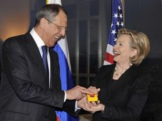 The Clinton Foundation received millions from investors as Putin took over 20% of US uranium deposits--Then-Secretary of State Hillary Rodham Clinton with Russian Foreign Minister Sergey Lavrov in March 2009.  April 23, 2015